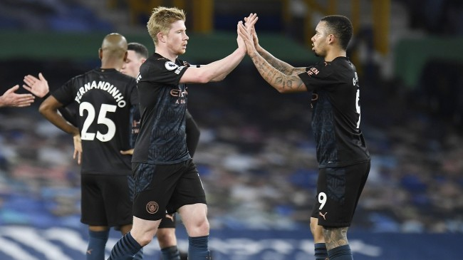 De Bruyne was back and kicked a few minutes against Everton in the previous round.  Photo: Reuters.
