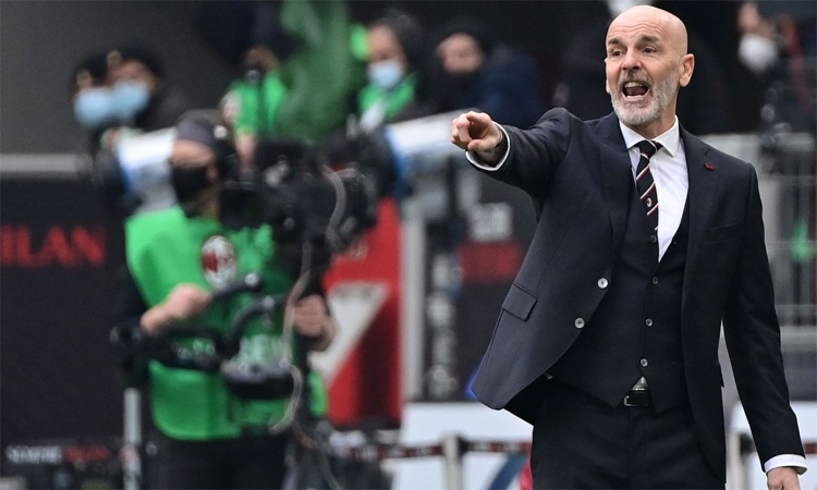 Pioli said that Milan need to know to be satisfied with what has been done.  Photo: AFP.