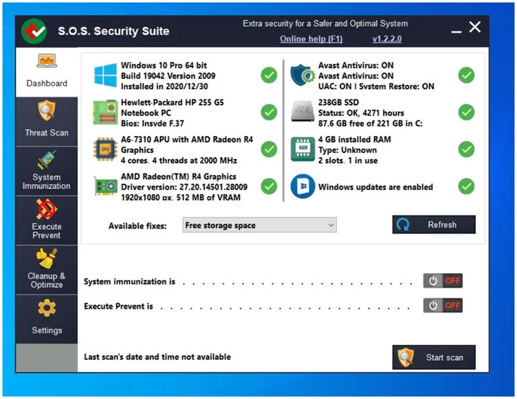 SOS Security Suite: Get rid of malware and optimize your computer