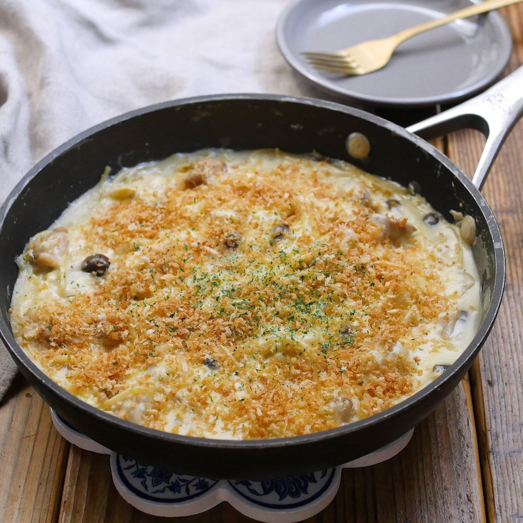 recipe No need for an oven!One bread pasta gratin