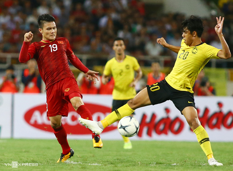 Vietnam defeated Malaysia 1-0 in the first leg at My Dinh in 2019. Photo: Lam Thoa