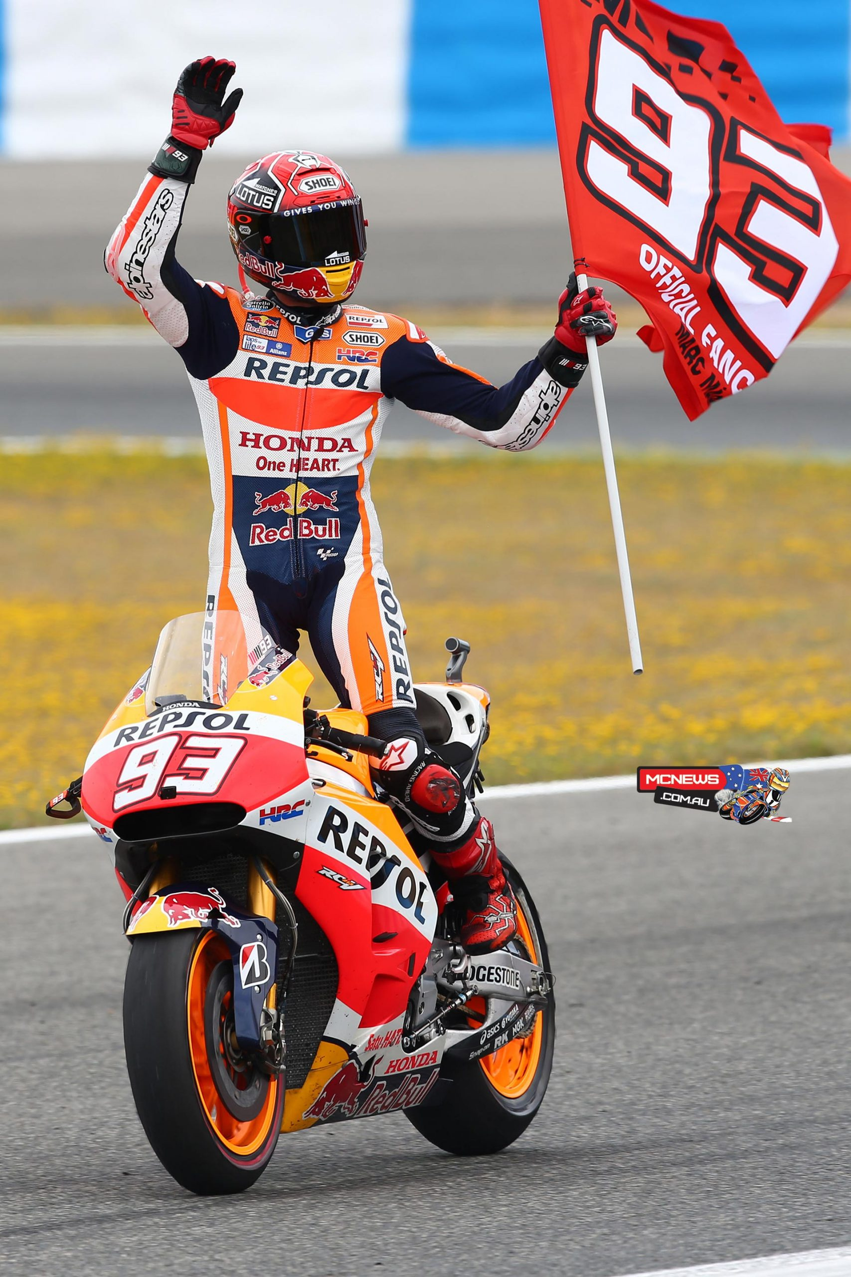 Stage 9 Moto GP 2015: Driver Marc Marquez finishes first at the Sachsenring