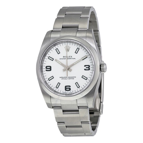 Rolex Oyster Perpetual 34 White Dial Stainless Steel Bracelet Automatic Men's Watch 114200WASO - 546x546 Rolex Oyster Perpetual 34 White Dial Stainless Steel Bracelet Automatic Men's Watch 114200WASO - 546x546 Image #2 Rolex Oyster Perpetual 34 White Dial Stainless Steel Bracelet Automatic Men's Watch 114200WASO - 546x546 Image #3 ROLEXOyster Perpetual 34 White Dial Stainless Steel Bracelet Automatic Men's Watch , best luxury watch brand for men