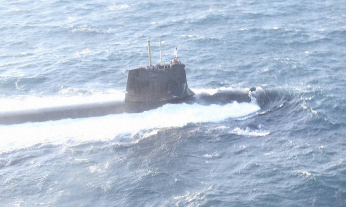 JS Soryu was severely damaged after the collision on February 8.  Photo: Japan Coast Guard.