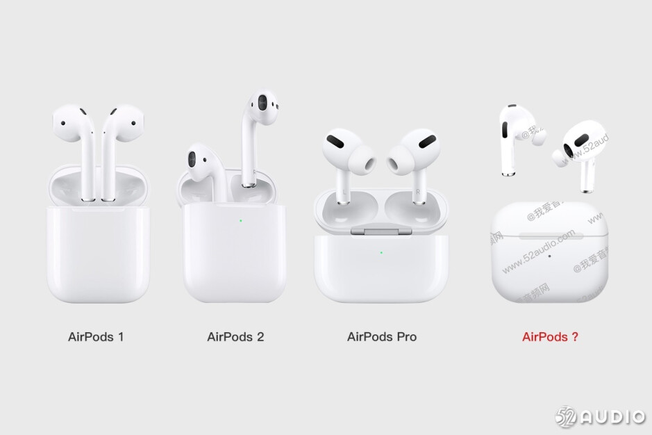 All of the different AirPods models released by Apple over the years - Third-gen AirPods new look allegedly appears in photos; ANC rumored to be included