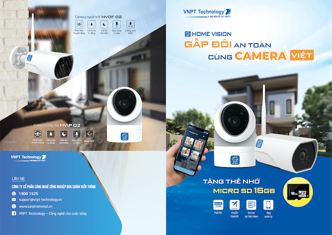 VNPT Technology officially opened to sell IP Camera on Shopee, Tiki and Lazada
