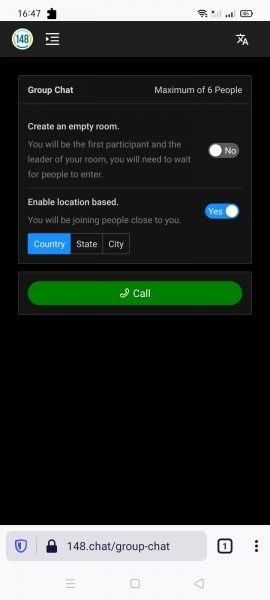 148.chat: Where you can call your friends for free using browser 1