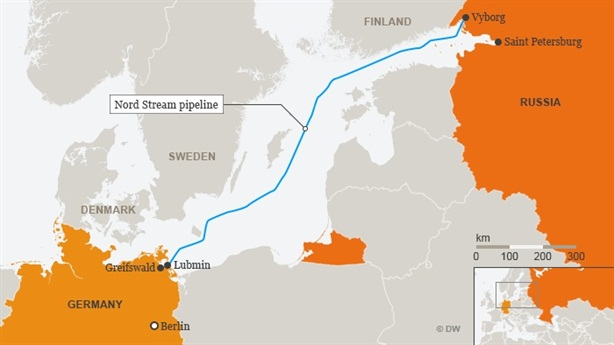 Russia continues to construct the Northern flow 2