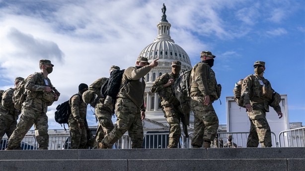 American soldiers made unusual moves ahead of Biden's inauguration