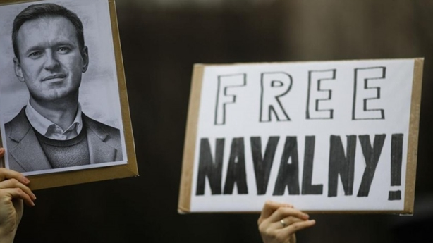 Russia denounced its support for the Navalny protest as a terrorist