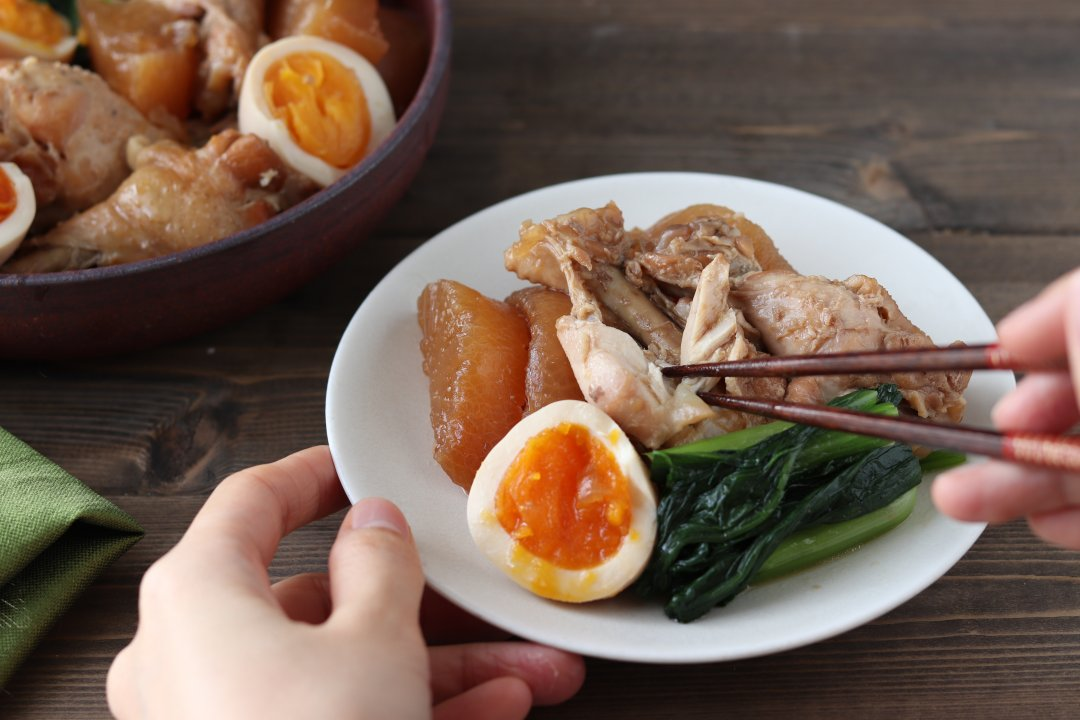 recipe Easy with a rice cooker! Boiled radish with fluffy wings and taste[OL work rice]