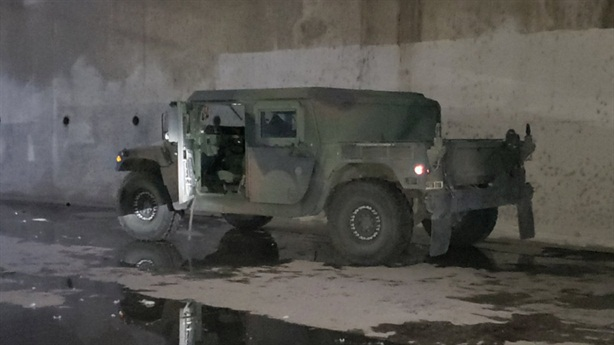 The US National Guard found the stolen Humvee