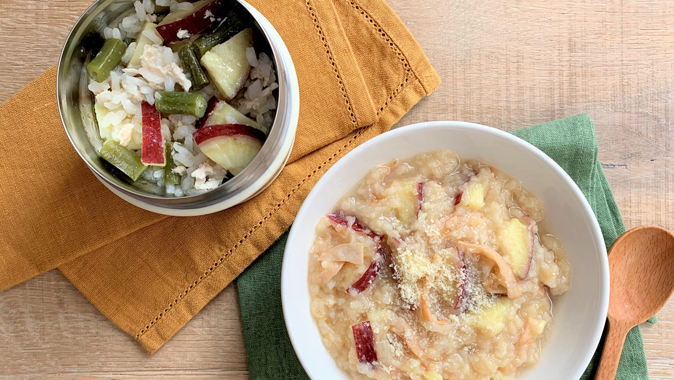 recipe Easy with soup jar!Japanese and Western risotto lunch of sweet potatoes