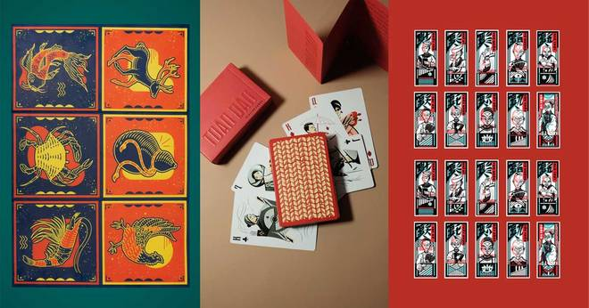 On spring day, watch the amazing decks of cards refreshed by Vietnamese artists for 6 minutes to read