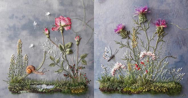 3D embroidery reproduces the 'fresh' beauty of nature with enchanting twists of 3 minutes to read