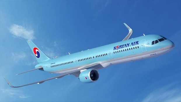 Korean Air started international travel without watching picture 1