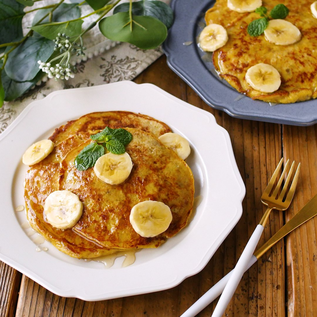 recipe Two main ingredients!banana pancake