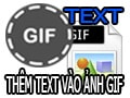 Add text in GIF images, add text to animations