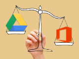 Which services should Google Drive and MS Office Web Apps use?