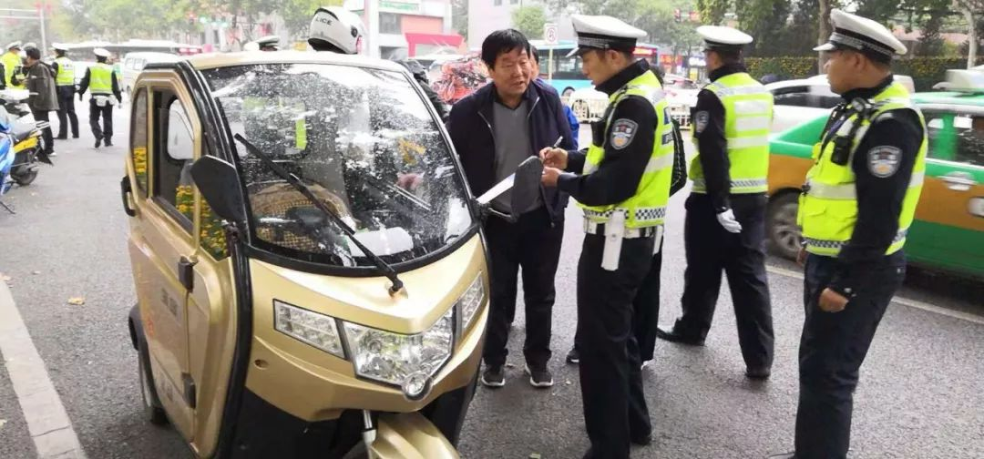 Xi'an traffic police fully fired the most stringent measures to rectify two, three and four-wheel electric vehicles