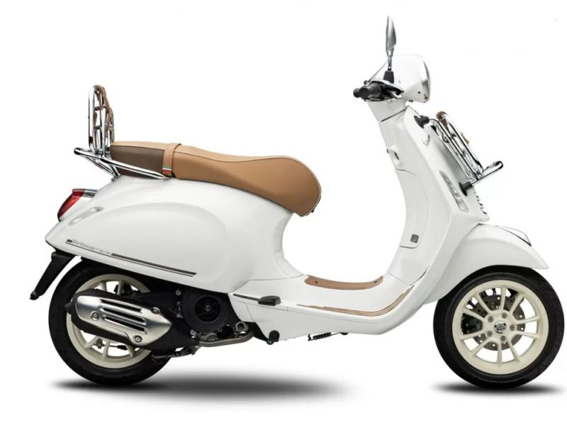 The Vespa Primavera Pic Nic is cheaper than the Honda SH 150i