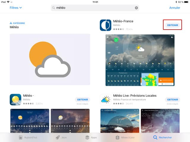 Installer une application pour iPad ou iPhone depuis l'App Store