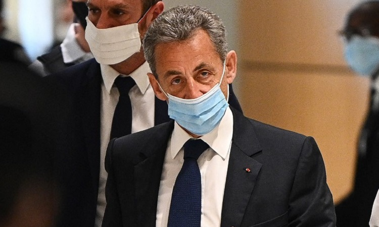 Sarkozy after the trial on March 1.  Photo: AFP.