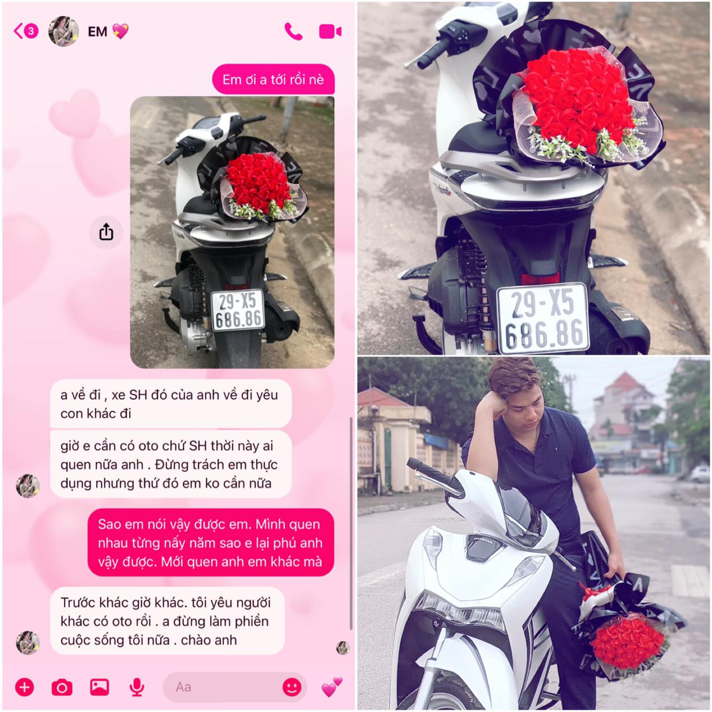 The bitter corner of his heart: The young man who went to Honda SH was kicked by his lover before March 8, the CDM was stunned for the reason of photo 1