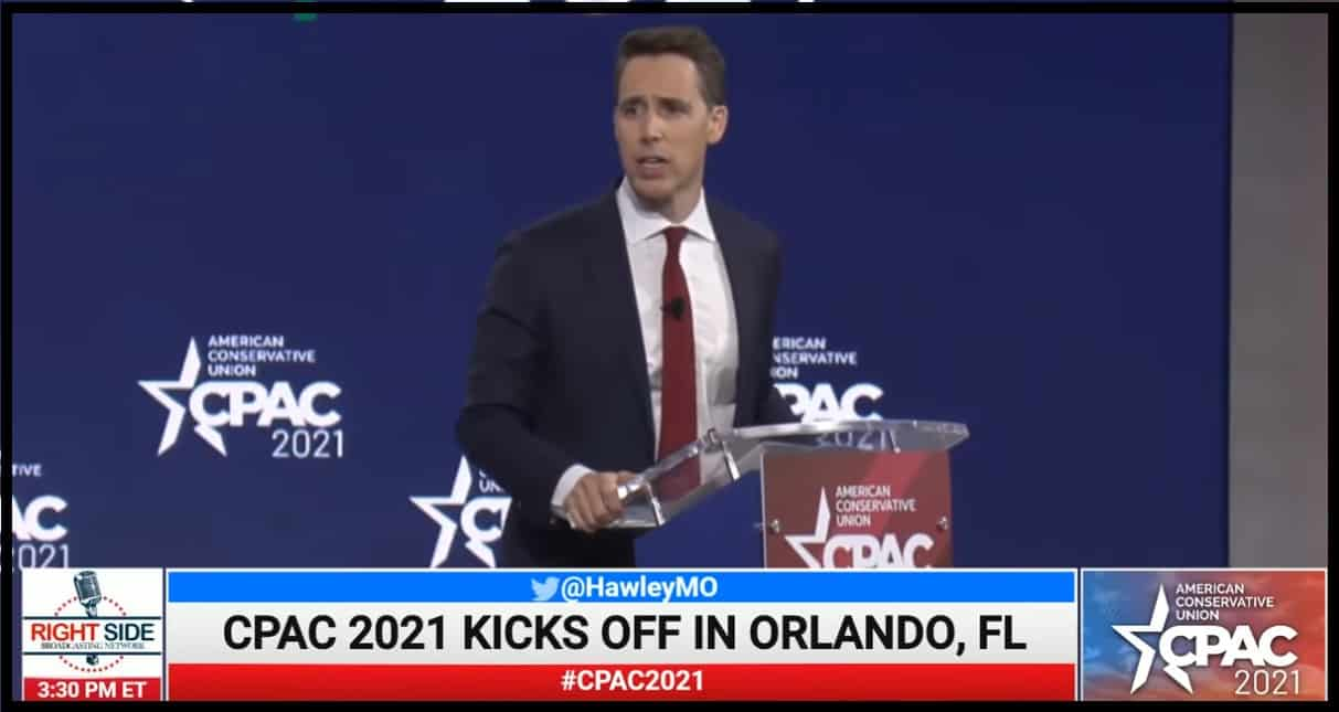 Josh Hawley at CPAC: 'Our rights come from God, not from Google'