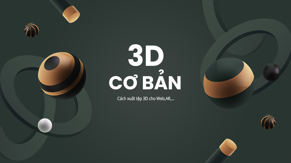 Basic 3D: How to export 3D files for Web, AR, ... in Dimension