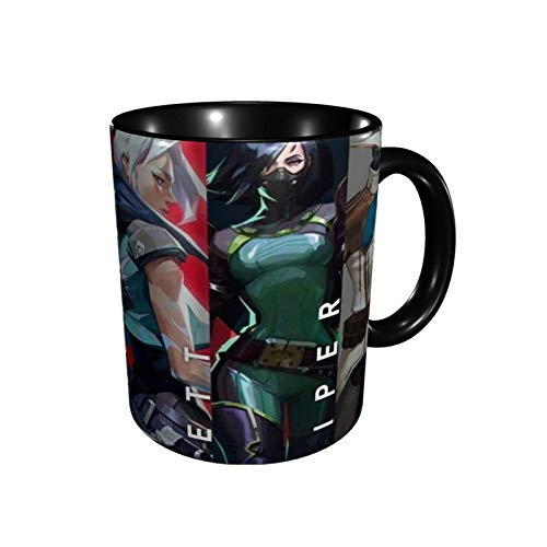 VALORANT Mugs Comics Anime Coffee Cups Novelty Gift Ceramic Coffee Mug Home Travel Coffee Mugs Black
