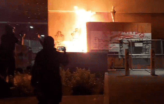 Antifa burned an ICE building in Portland, officers trapped inside
