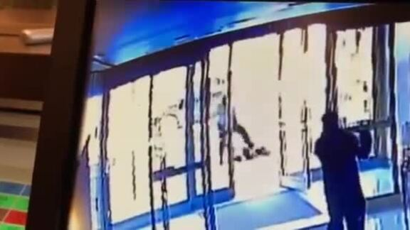 The Asian woman was repeatedly kicked in the head