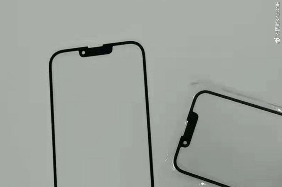 Sforum - Latest technology information page duanrui-iphone13-notch-1 Leaks of iPhone 13 screen protector, confirms more compact notch, changed speaker position