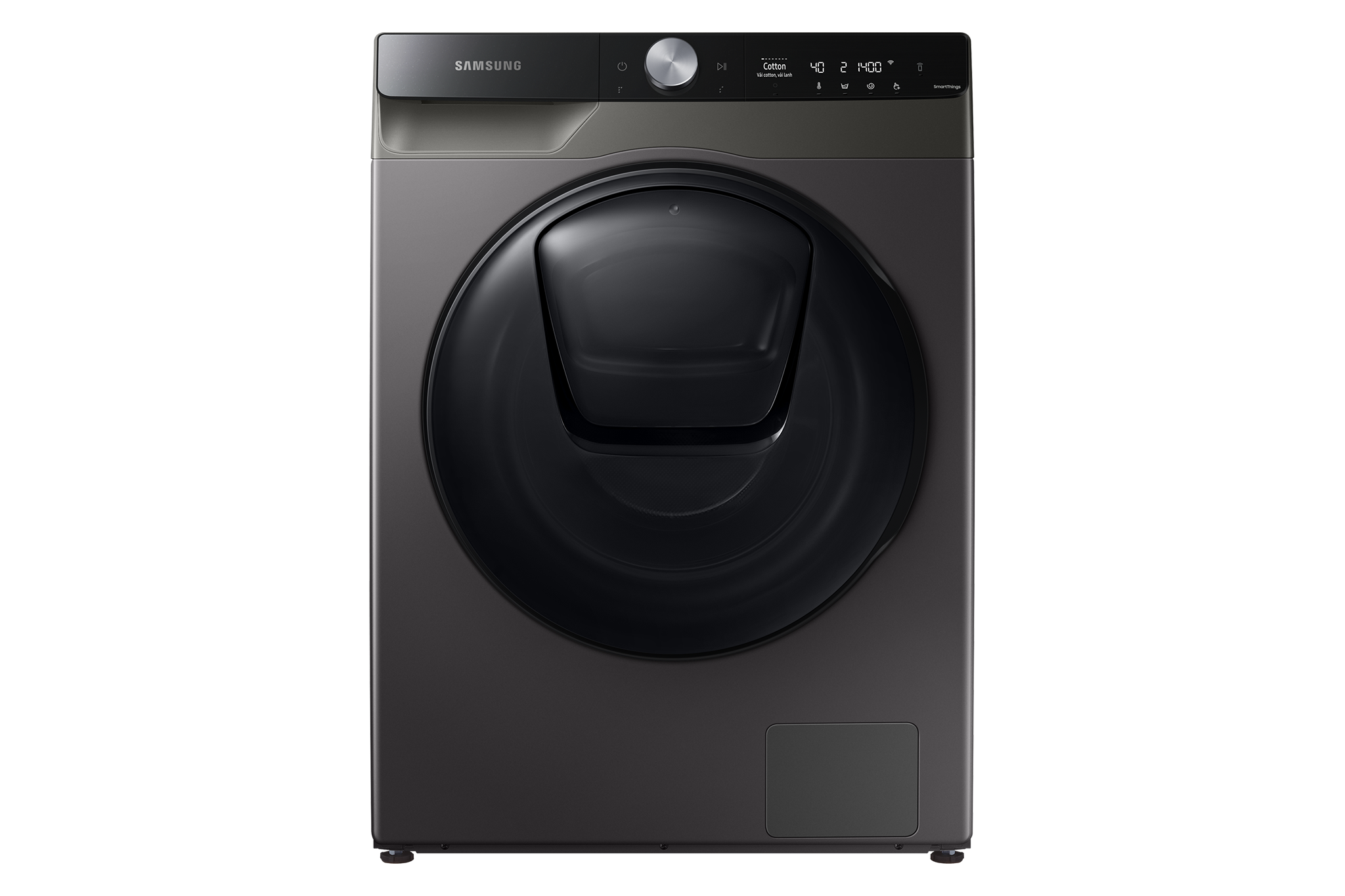 Sforum - Latest technology information page WD95T754DBX-SV_001_Front_Inox Samsung launches smart washing machine integrated with AI in Vietnam, priced from VND 15.5 million