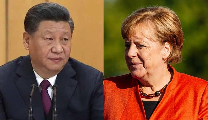 Why did Xi Jinping call Merkel?