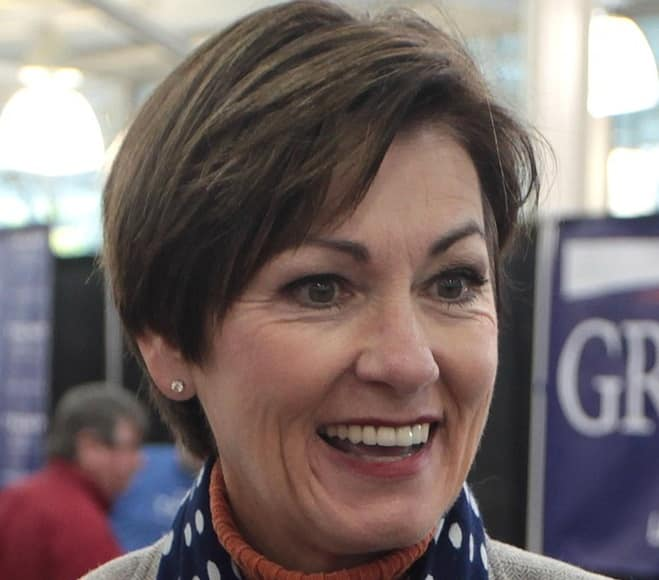 Iowa Governor Kim Reynolds signed into law allowing the carrying of guns without a permit
