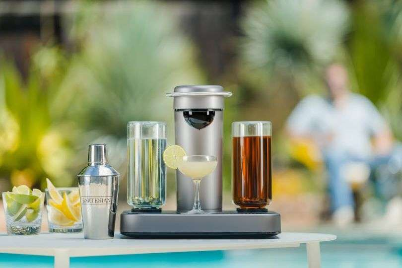 Using capsules and machines to mix drinks at home, American startup Bartesian received US$20 million in Series A financing