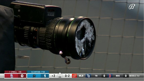 Video: Major League Baseball batter shatters camera lens with a foul ball: Digital Photography Review