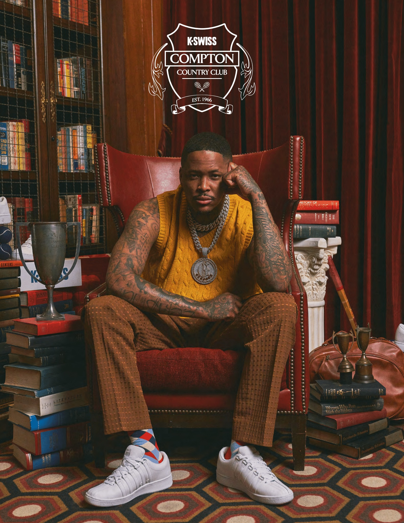 YG-KSWISS-Compton-Country-Club campaign lx classic sneaker