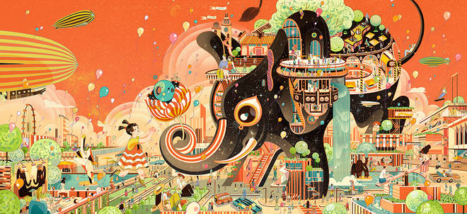 Victo Ngai: If you have to be honest when drawing, why don't we take a picture?  3 minutes