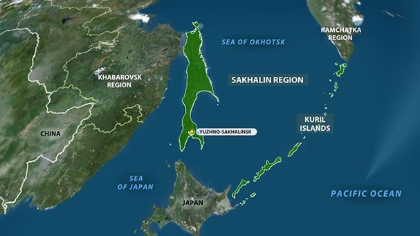 Route of the Soviet calculation of the Kuril Islands to Japan