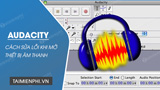 How to fix the Audacity error when opening the audio device