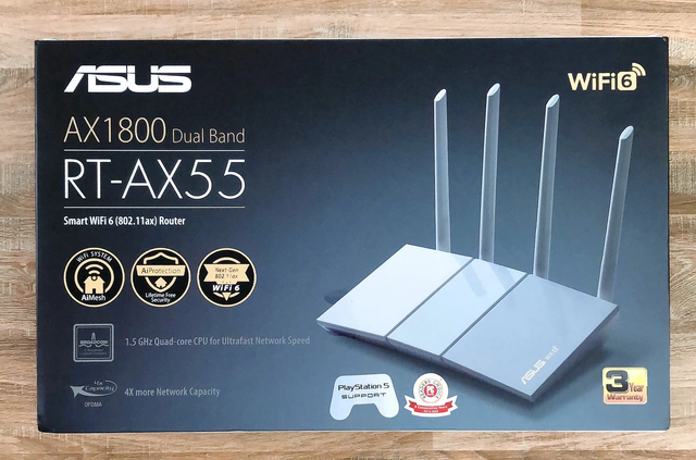 ASUS RT-AX55 Router: Wi-Fi 6 technology - Ultra-powerful pairing with PS5 super product - Photo 1.