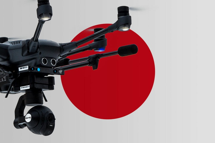 Many Japanese companies stop using Chinese drones for security reasons
