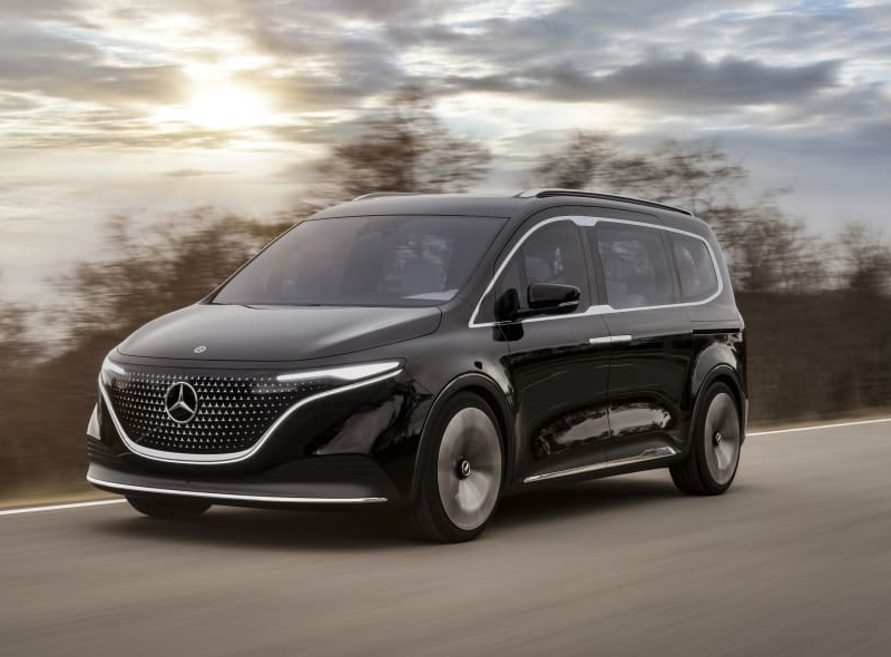 Mercedes - Benz, concept, minivan, EV, electric vehicle