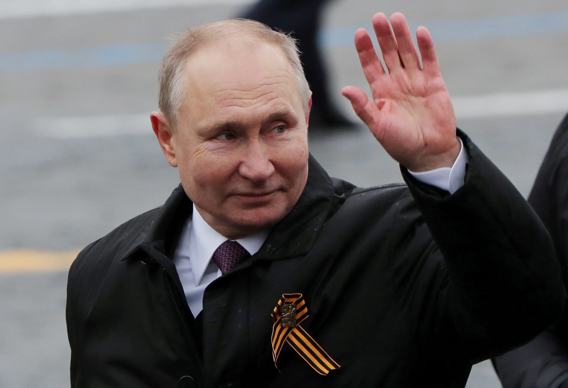 President Putin in Moscow on May 9.  Photo: Reuters.