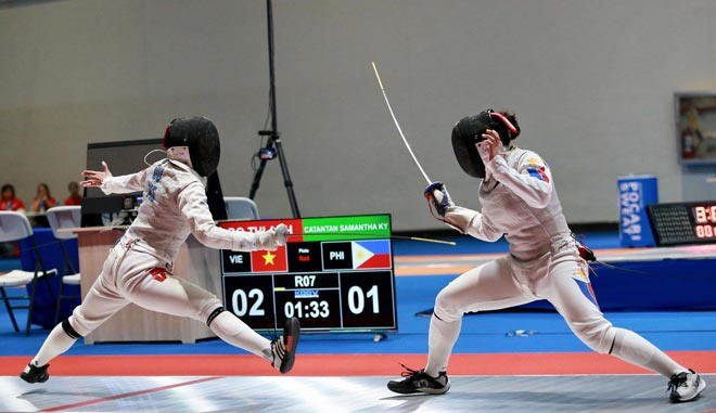 Vietnamese fencing players competing internationally infected with Covid-19 45794