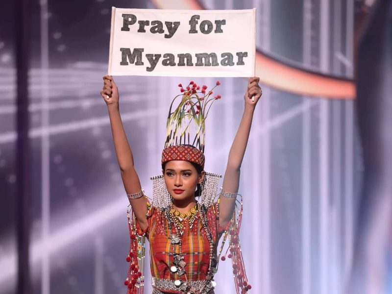 "Miss Universe 2021: Miss Myanmar won the ""Best National Costume"" award"