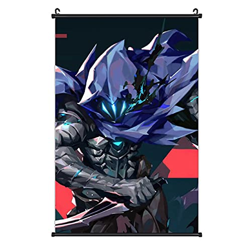 """SAGELLA Valorant Poster Hangs a Picture Waterproof Wall Art Hanging Pictures Anime Scroll Paintings for Living Room Kitchen Office Bedroom Home Decor Print Picture 16""""×24"""""""